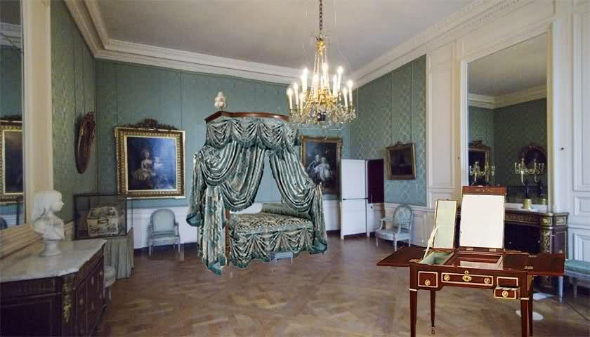 Chambre à coucher du Petit appartement de Marie-Antoinette, au rez-de-chaussée du château de Versailles 1ox7r9