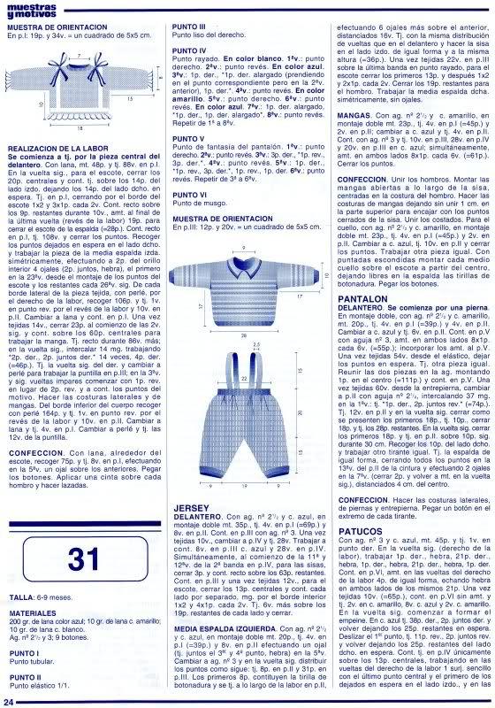 patrones - Patrones de Jerseys para bebés (6 meses) solicitado por Matilde 25q57i0