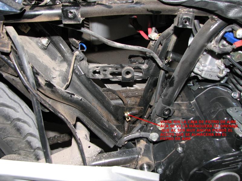 Perdida de aceite por desfogue de motor