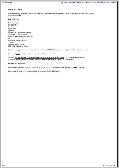Imprimir el texto de las recetas 2i0rt6a