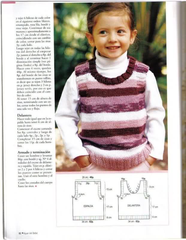 años - Chaleco niña de 6 años, pero es talla 10-12... o 2ui9jkp