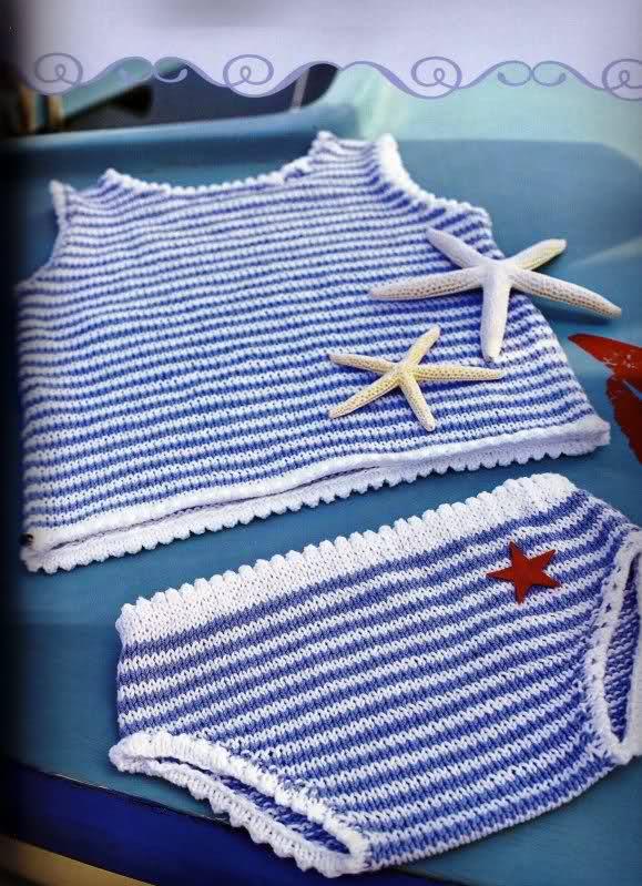 Camisetitas y bombachos para bebés para el verano (lomargo) 32znk3n