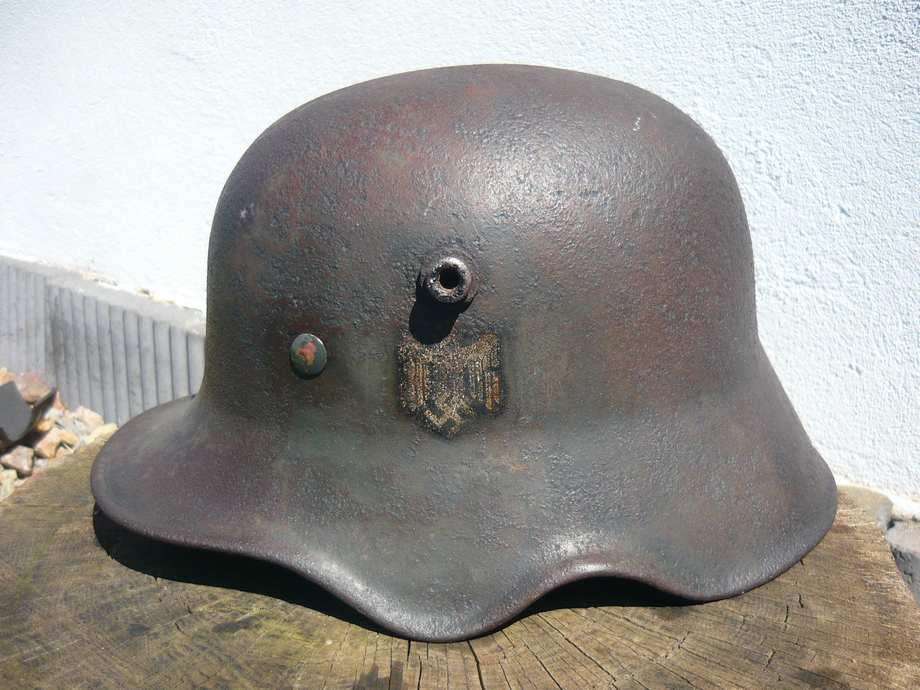 casque M18 à échancrures reconditionné 1940  4u6z2d