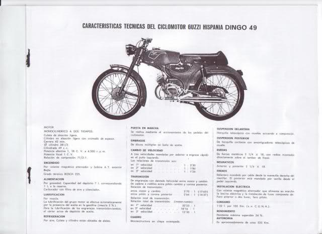 Manual despiece Dingo 49, 1965. Biwt1