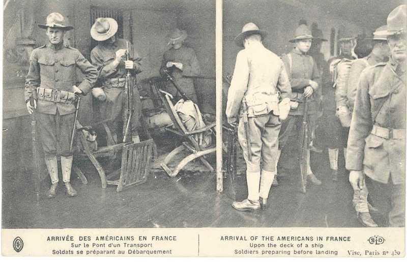 SAINT NAZAIRE les premier débarquements de Troupe Américaine le 26 juin 1917 Ele74p
