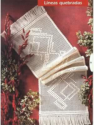 CROCHET - Varios patrones para realizar UN MANTEL a crochet Hsizko