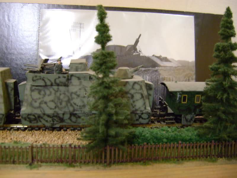 Panzerzug BP 32 en vrai et en scratch. Mbllky