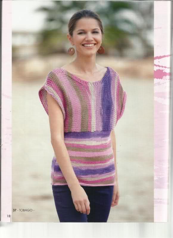 agujas - Patrón suéter verano en dos agujas  N2h5vp