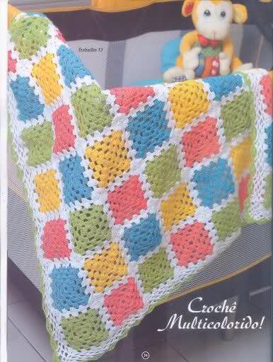 patrones - Patrones de Mantitas para bebés (Tejidas a crochet para Marijou) Scyzrd