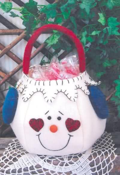 Bolsas para dulces mono nieve y santa claus W1v96b