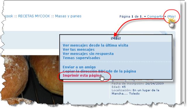 Imprimir el texto de las recetas Waombn