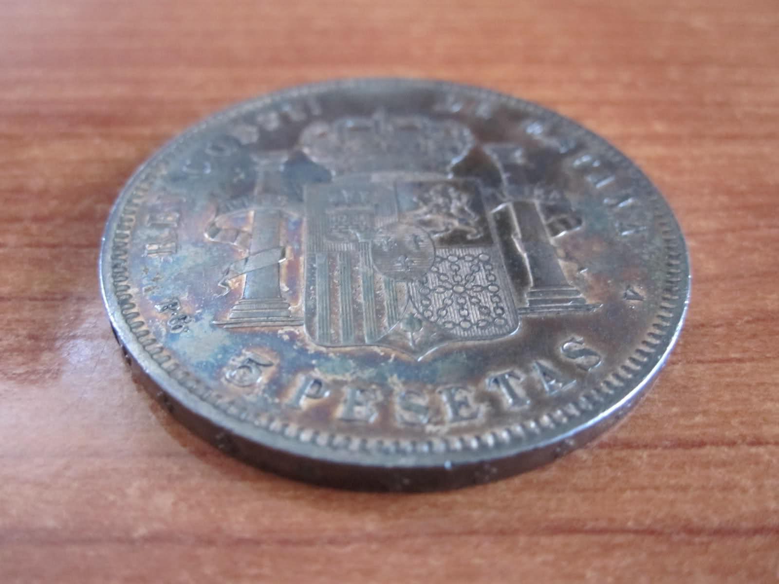5 pesetas 1896 *18*96 Wf21