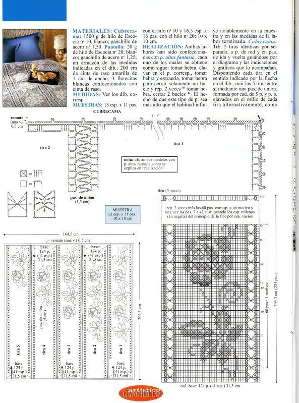 CROCHET - Varios patrones para realizar UN MANTEL a crochet 11s2edg
