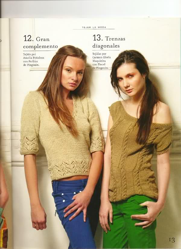 agujas - Patrón suéter verano en dos agujas  14sfxpf