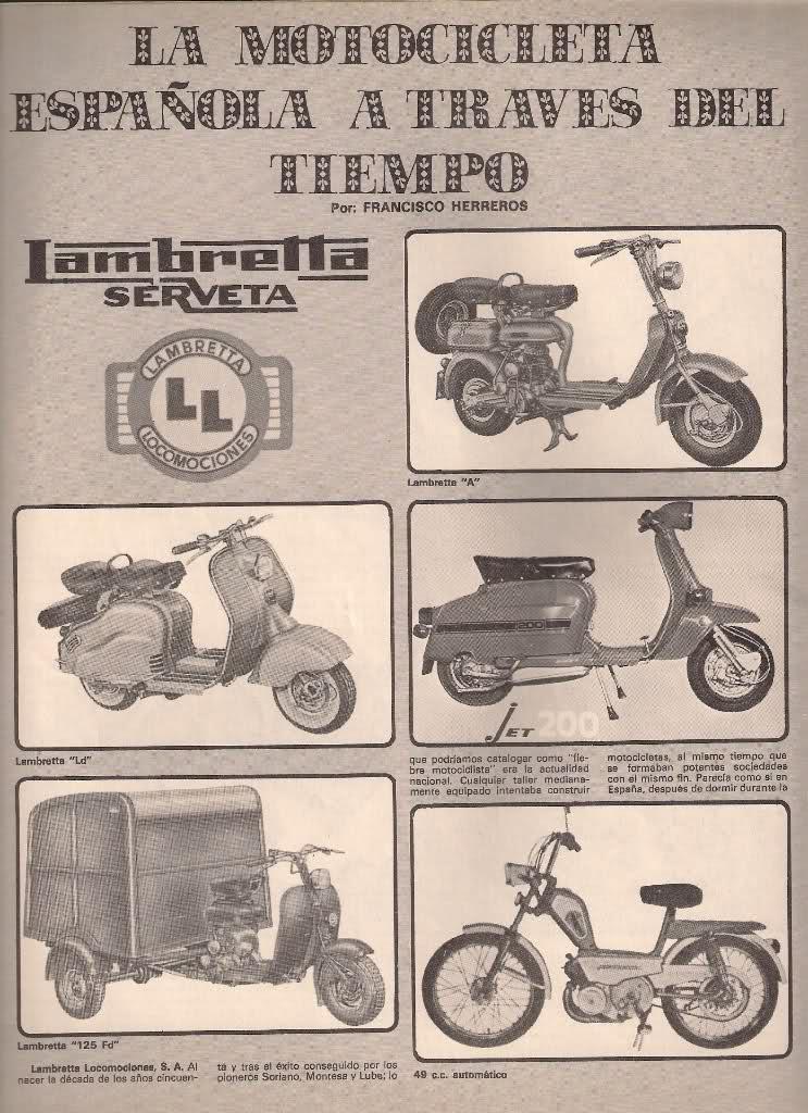 Lambretta Serveta a través del tiempo 1588kkm