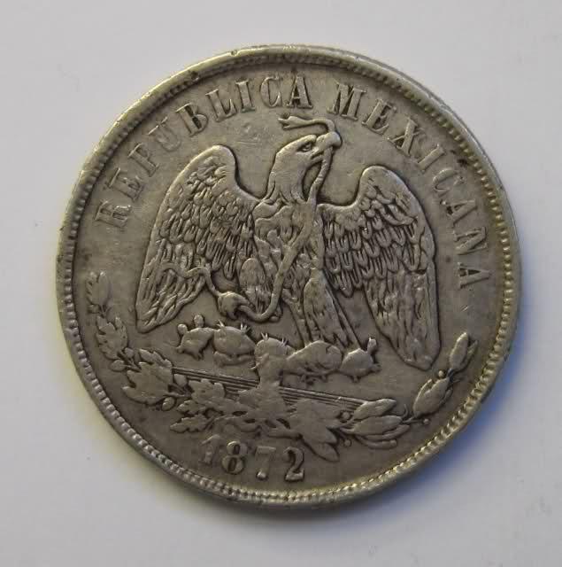 1 peso México 1872 15coxnn