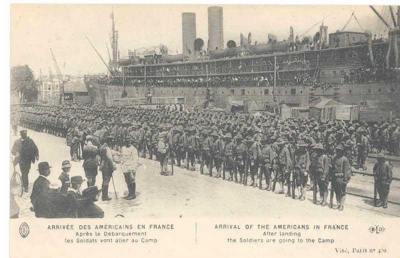 SAINT NAZAIRE les premier débarquements de Troupe Américaine le 26 juin 1917 2e31po8