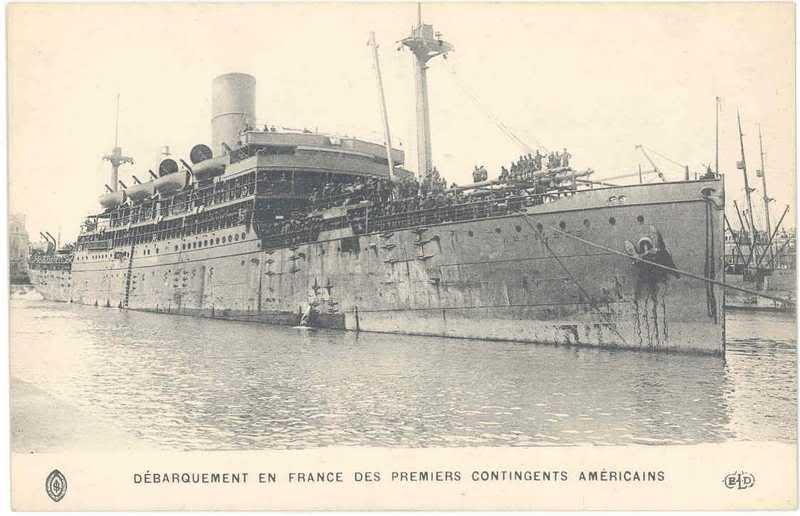 SAINT NAZAIRE les premier débarquements de Troupe Américaine le 26 juin 1917 2i89ldx