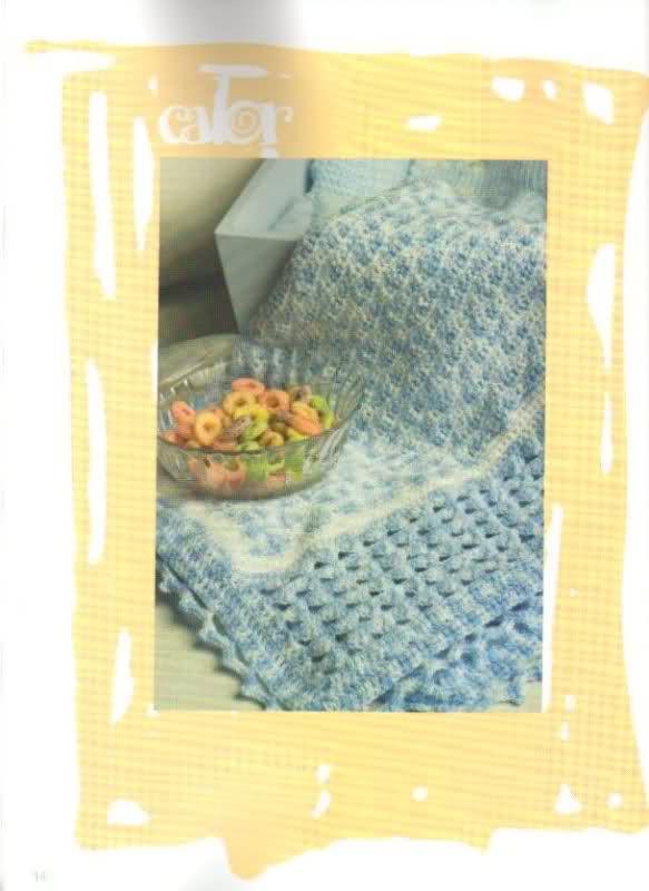 patrones - Patrones de Mantitas para bebés (Tejidas a crochet para Marijou) 2nupy5i