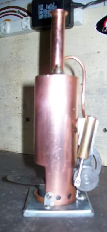 Motor a vapor oscilante de caldera vertical 2qiv1n5