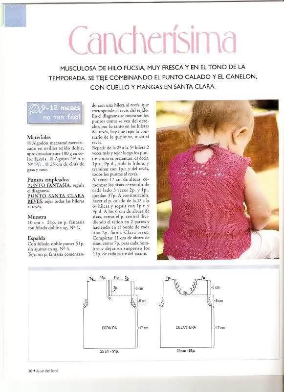 patrones - Patrones de Jerseys para bebés (6 meses) solicitado por Matilde 2r2x17m