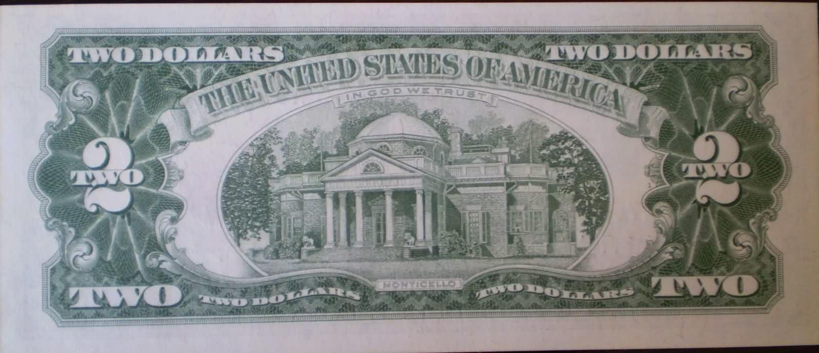 2 Dolares de Estados Unidos Emision 1963 34of0ag