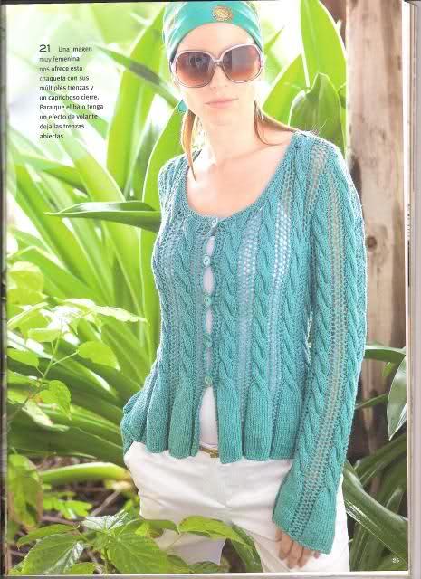 Patrón suéter verano en dos agujas  34qmfr4