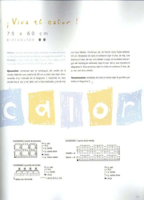 patrones - Patrones de Mantitas para bebés (Tejidas a crochet para Marijou) 97p1xw