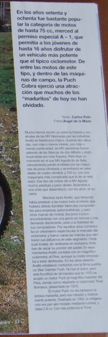 Puch Cobra M-82 C Agua - Prueba En Motociclismo Clásico Ehkgia