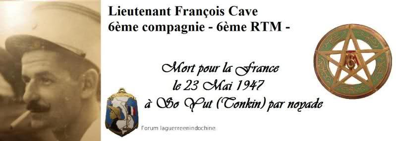 Lieutenant François CAVE, 6ème RTM, MPLF 1947 Vo4pxs