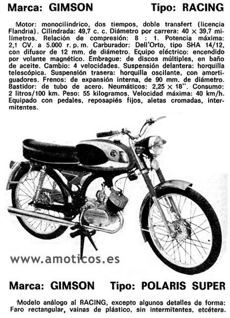 Mi Gimson Polaris Super - 1974 10dxuzk