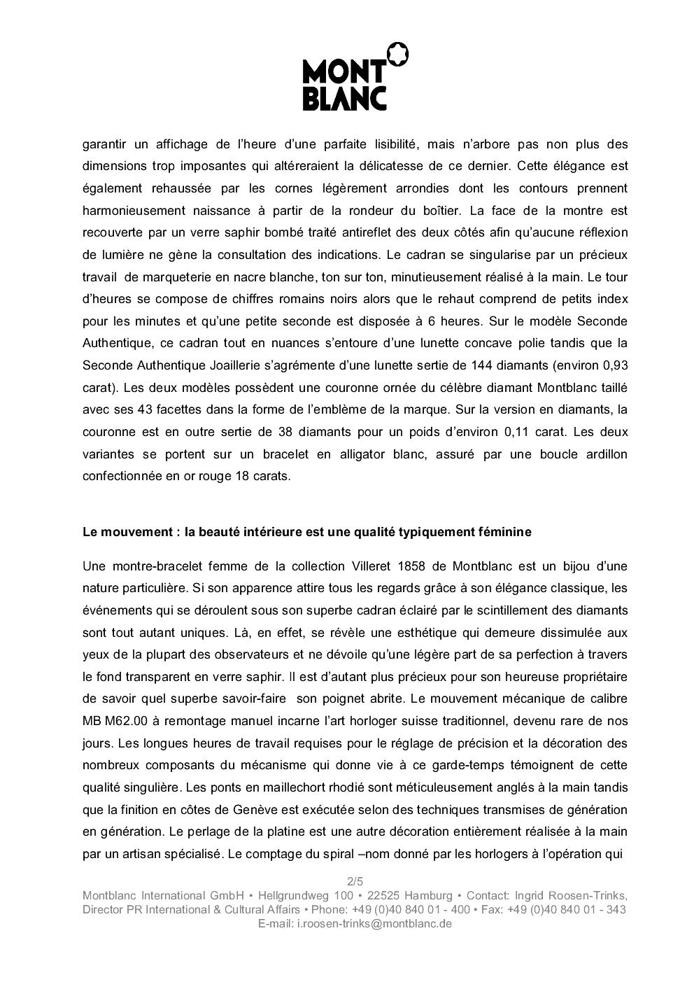 SIHH 2013 MONTBLANC Villeret Seconde Authentique 16760sh