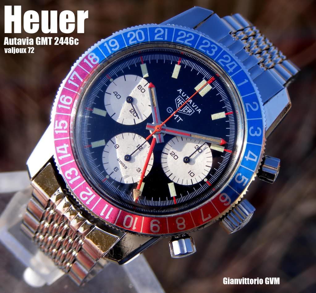 heuer - Heuer autavia gmt calibre valjoux 72-4 24qr4eo
