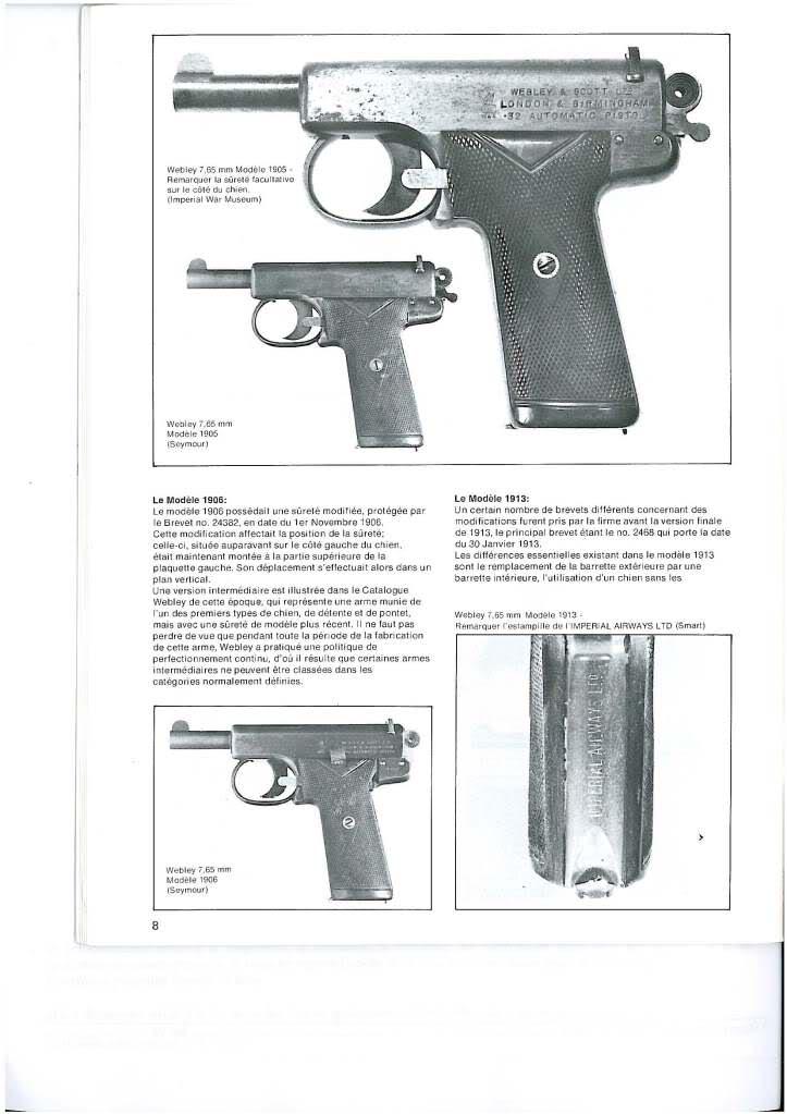 pistolets automatiques webley & scott 2afd1kl