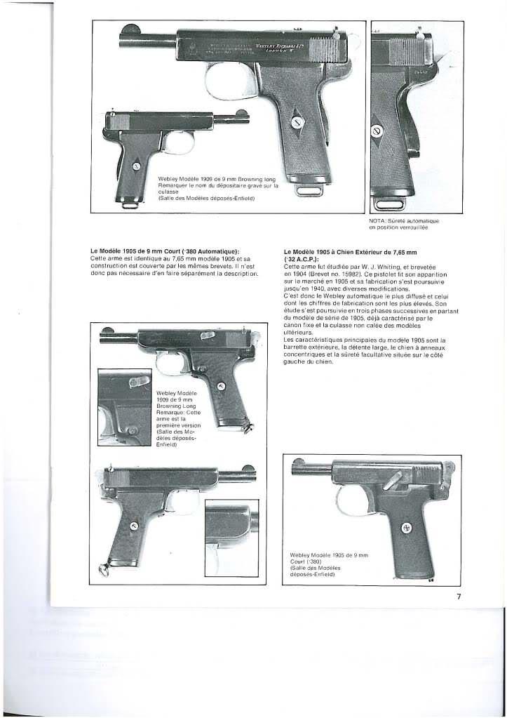 pistolets automatiques webley & scott 2cdbwrc