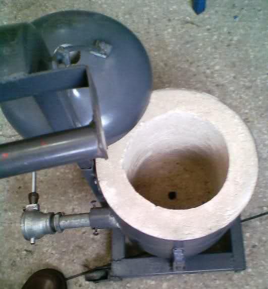 ALUMINIO - Horno a gas para fundir aluminio y bronce 2latqau