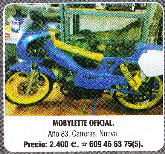 Se vende Mobylette oficial de carreras 1.983 2w3qi3d