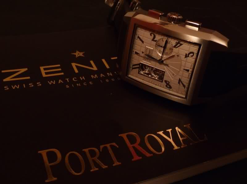 Zenith Grande Port Royal Open XT cadran blanc 35jcz80