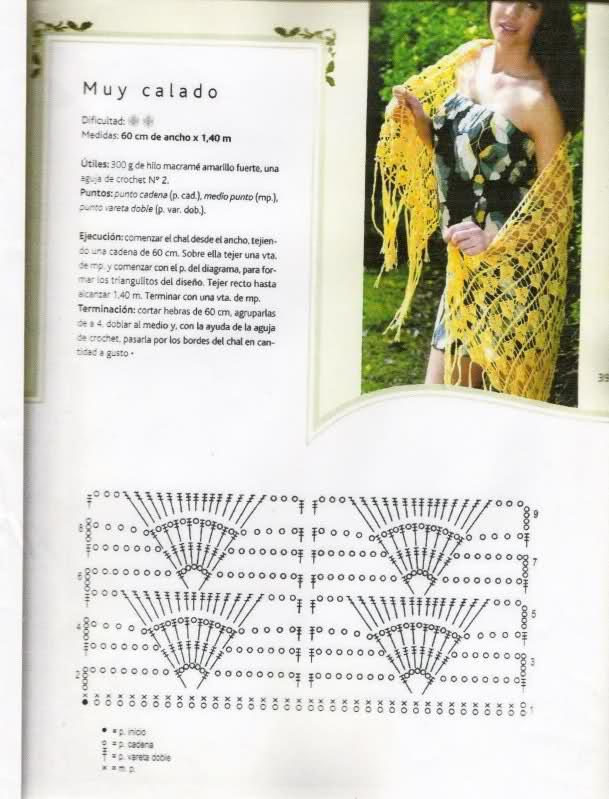chal con flecos - Patroncito para poder realizar un chal con flecos a crochet Wkls85