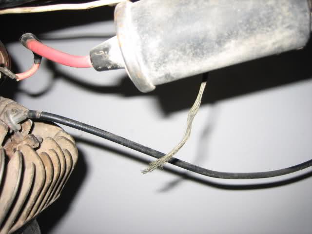 cable de masa - Cable que sale de la bobina hacia el chasis 2gu9lbd