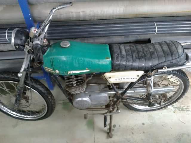 Presentación y retauración Gilera 50 cc deposito verde. 344w46b