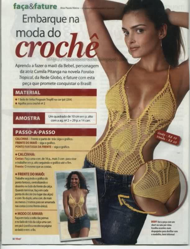 patrones de bikinis/bañadores mujer a crochet R0e6bl