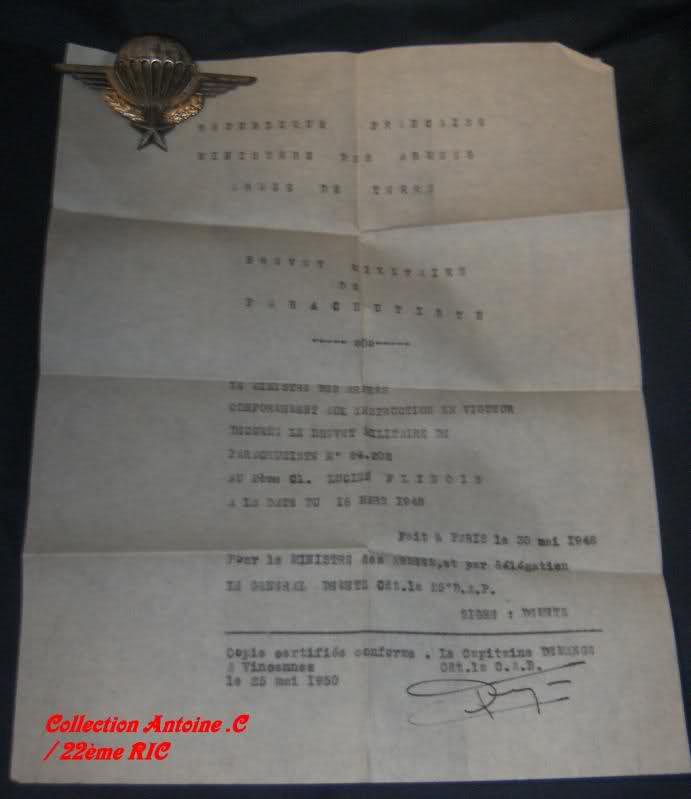 Brevet parachutiste d'un para mort dans les camps du Vietminh 1952 Rqyr0g