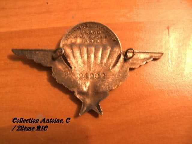 Brevet parachutiste d'un para mort dans les camps du Vietminh 1952 S5va0w
