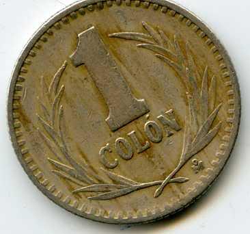 República de El Salvador - dos monedas de 1 Colón (suegra) de 1984 y 1985 Veqhbp