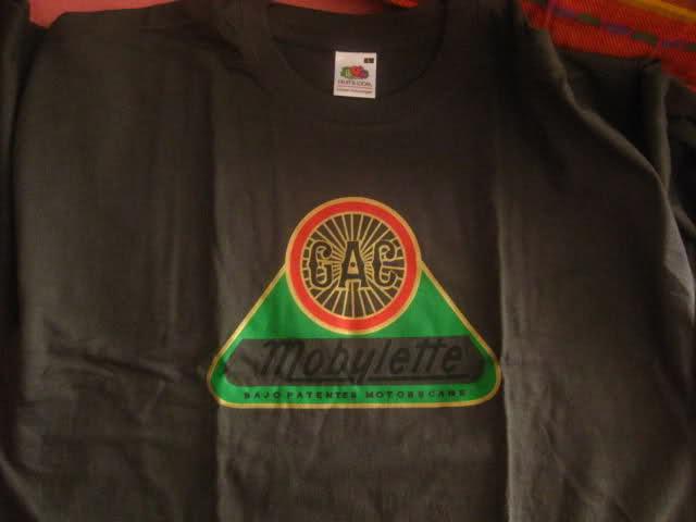 Camisetas logo G.A.C. Mobylette 2019 10y11xw