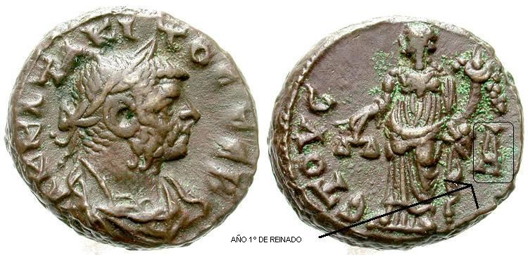 La moneda provincial romana. La ceca de Alexandría 148en9
