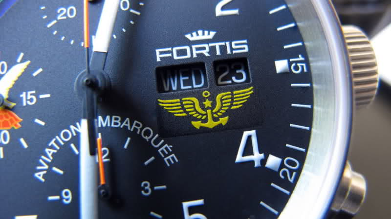 "Fortis limited edition Military Squadrons ""Aviation Embarquée"" 15gazpx"