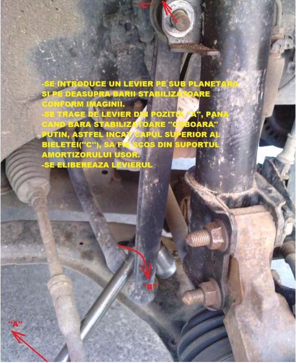 Tutorial inlocuire bieleta antiruliu Astra G Hatch 200eoo