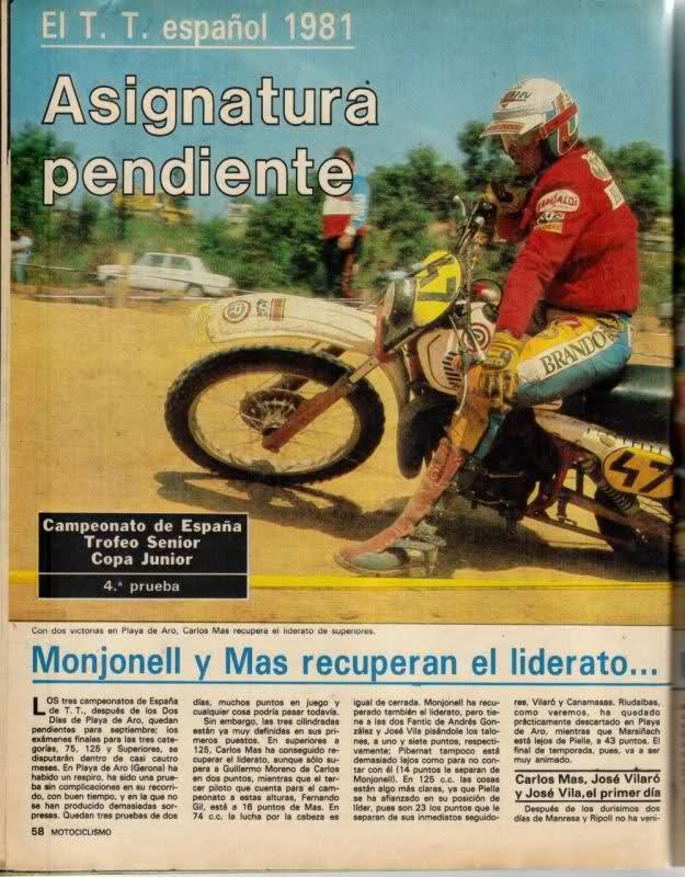 Carlos Mas y Montesa, reportajes 25u71w7